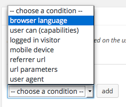 ads-by browser language condition