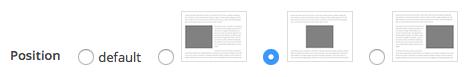 centered header message