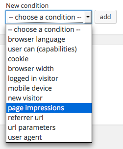 ad by page impressions setting