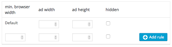 adsense manual sizes