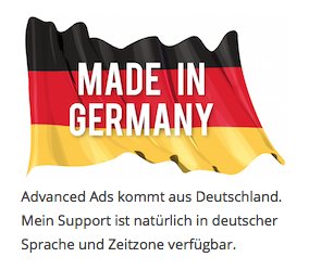 Made in Germany with text