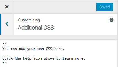 how to add additional CSS to your blog