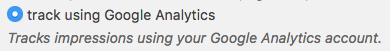 Analytics tracking method