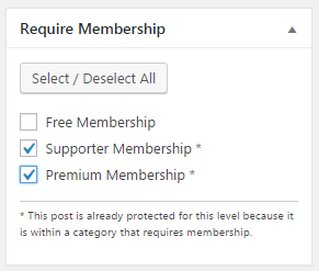 Ads per user in Paid Memberships Pro