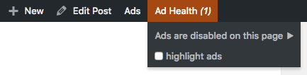ad health with error