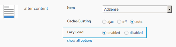 Reduce load time with Lazy Load for ads