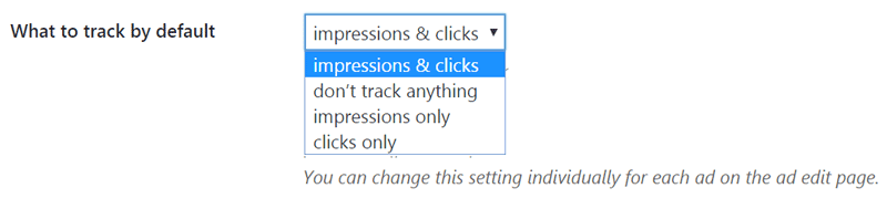 Tracking Settings Advanced Ads
