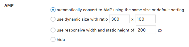 AMP AdSense ad settings