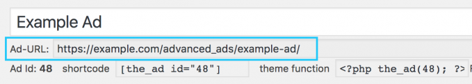 Ad URL option