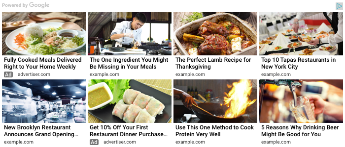 AdSense matched content ad