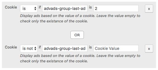 Ad rotation cookie random