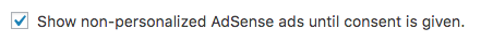 Adsense non-personalized ads setting