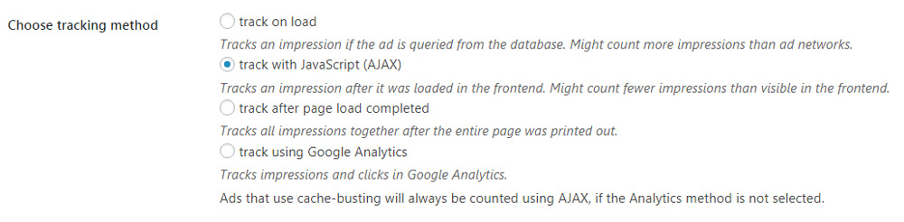 Advanced Ads tracking methods