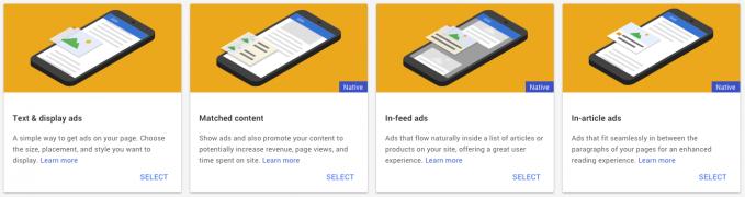 AdSense ad types