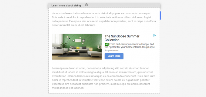 AdSense In-article preview
