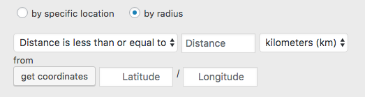 option for geo-targeting by radius