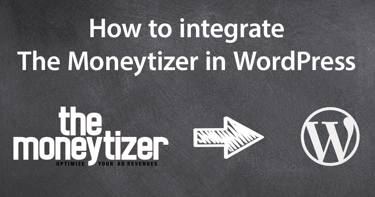 How to integrate Moneytizer in WordPress