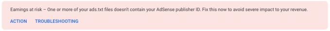 Ads.txt AdSense code warning