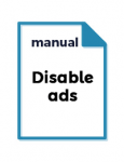 manual about disabling ads