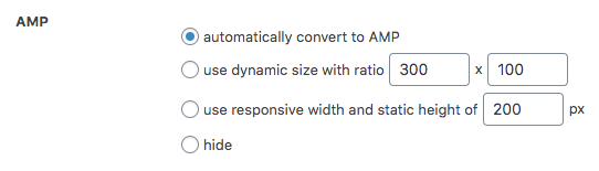 Plugin options for the behavior of individual AdSense ads on AMP pages.