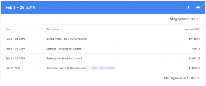 Invalid traffic in the Adsense reports