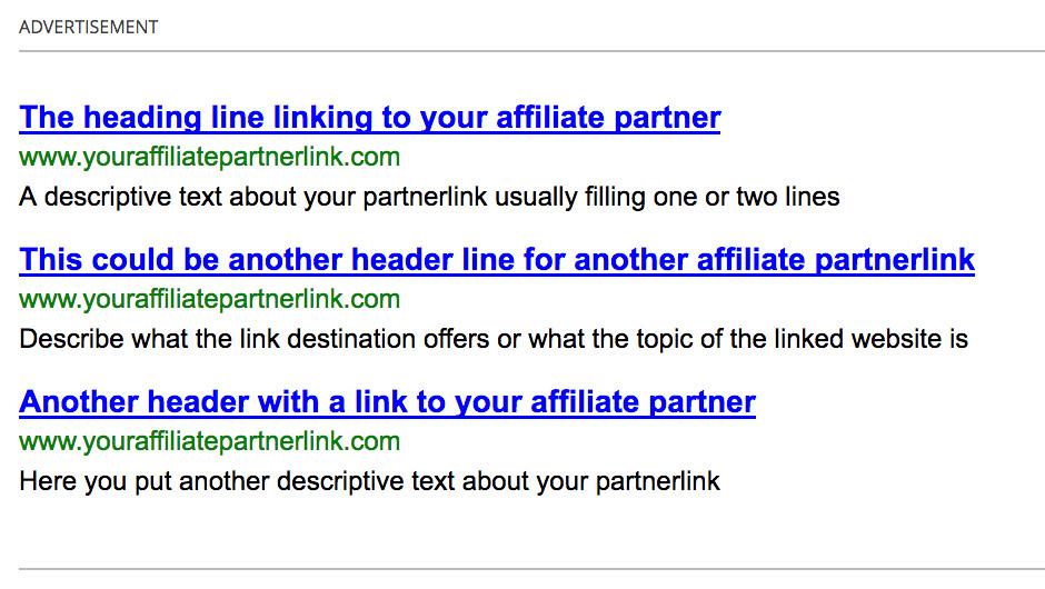 Google AdSense link unit alternative