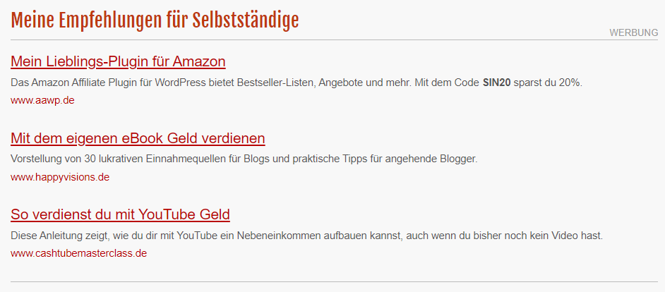 Adsense Alternative by Peer Wandiger (Selbständig im Netz)