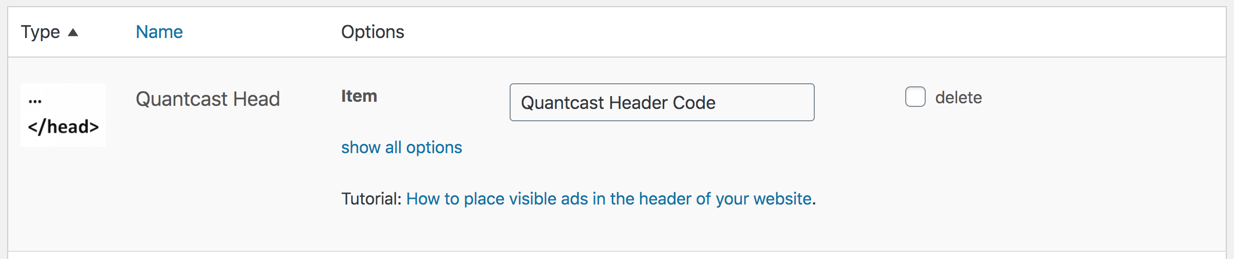 Advanced Ads header code placement