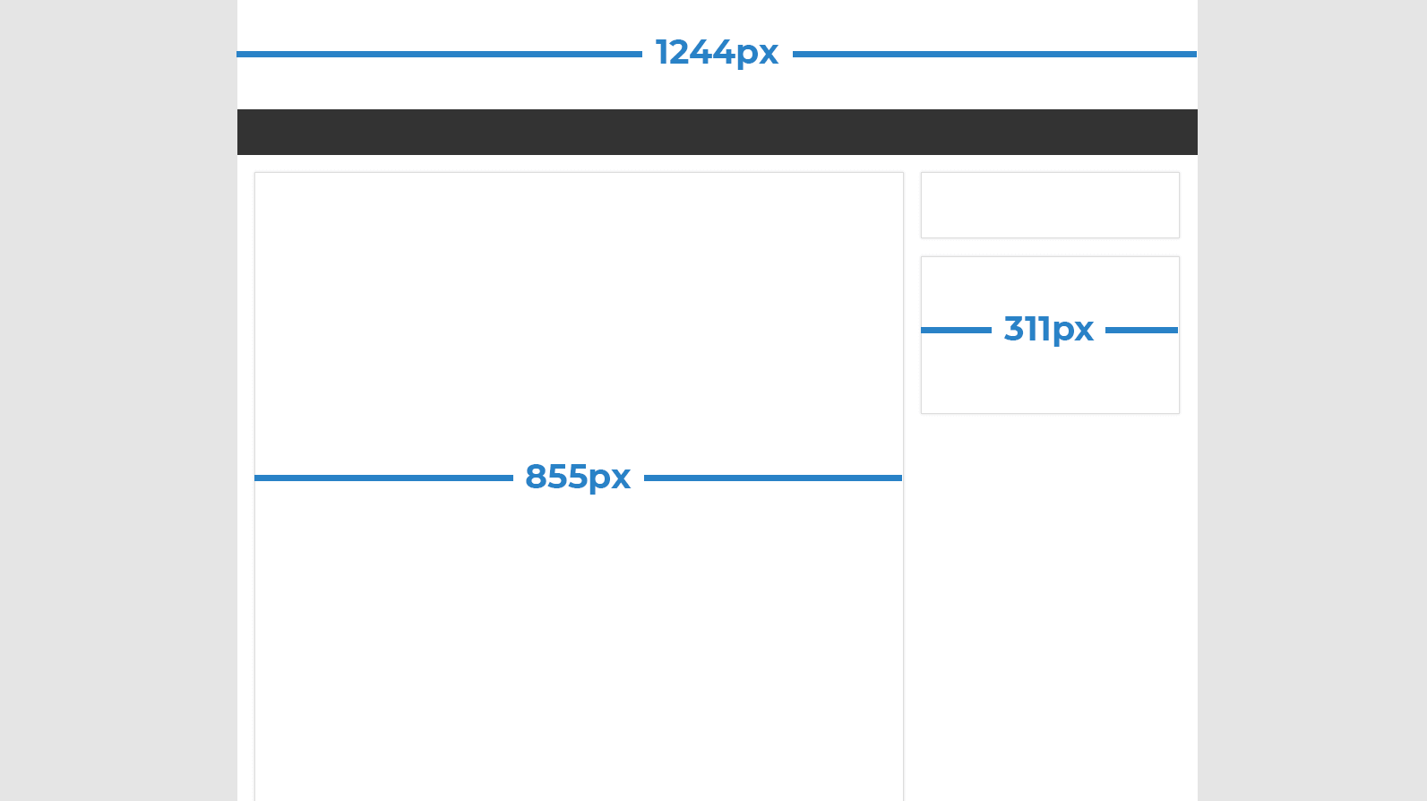 The available ad space is often narrower than the full-screen width