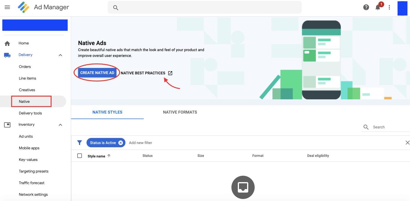 Google Ad Manager Native Ads