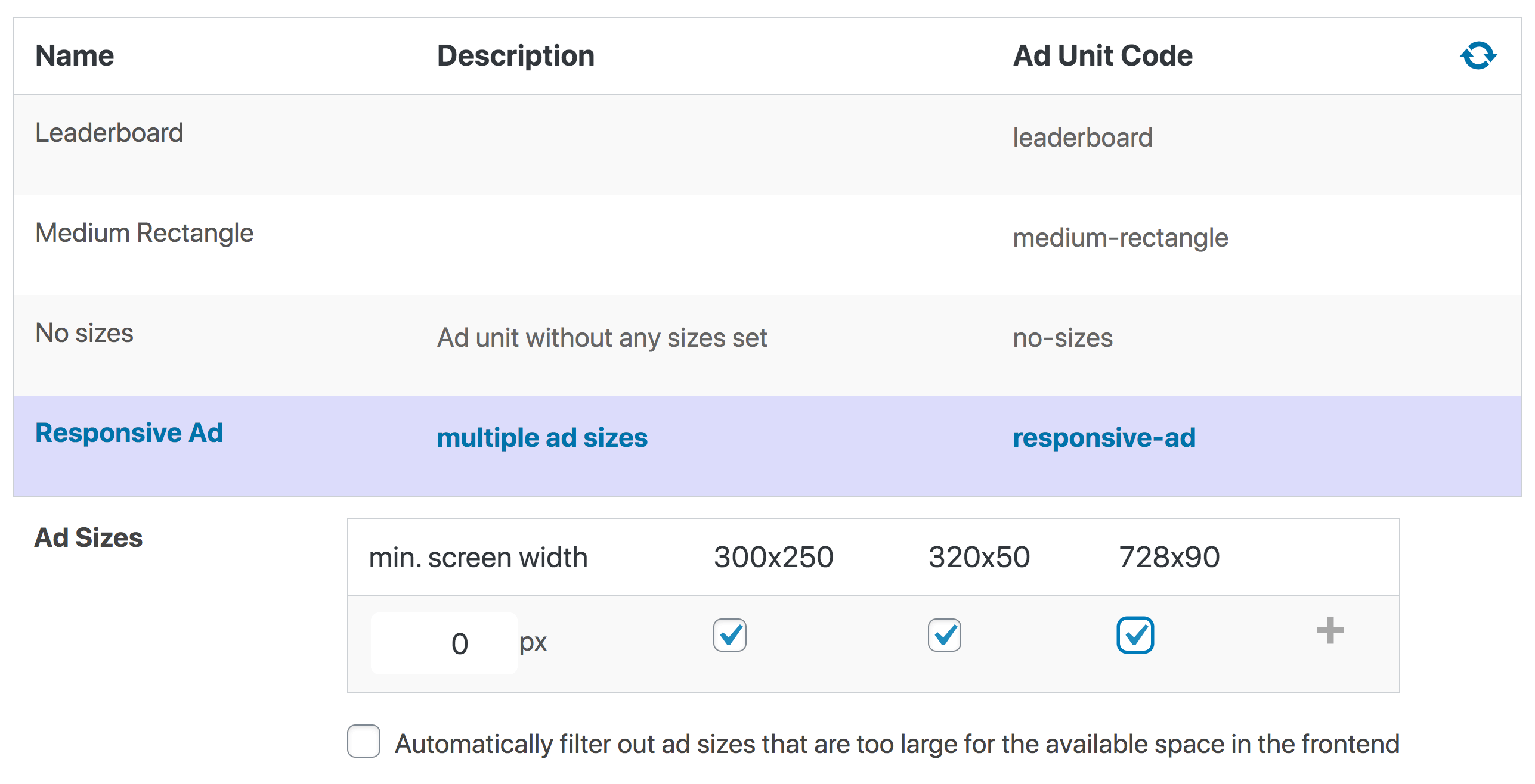 Responsive ad in Google Ad Manager