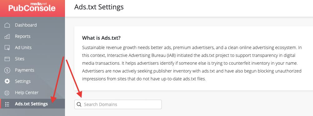 media.net ads.txt settings