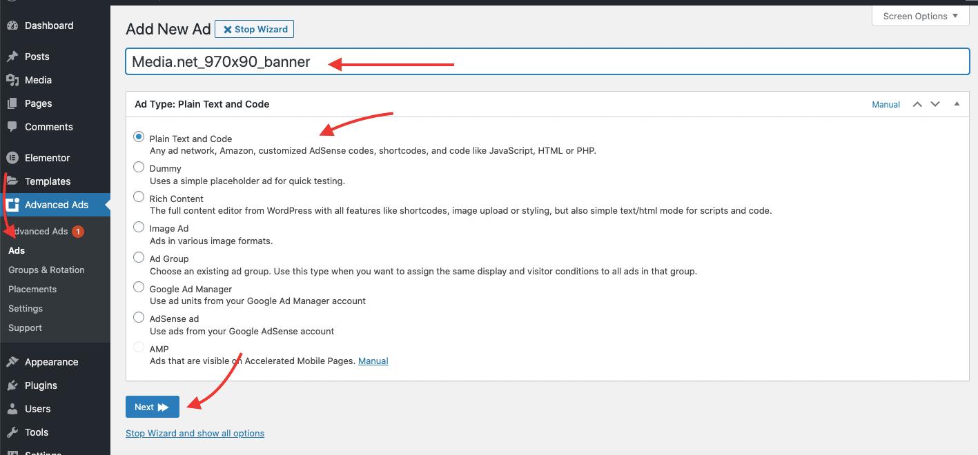 Adding the media.net body tag to WordPress