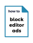block editor ads