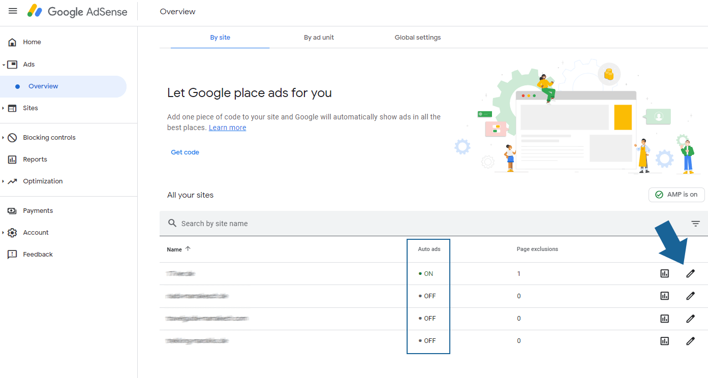 Google AdSense auto ads settings