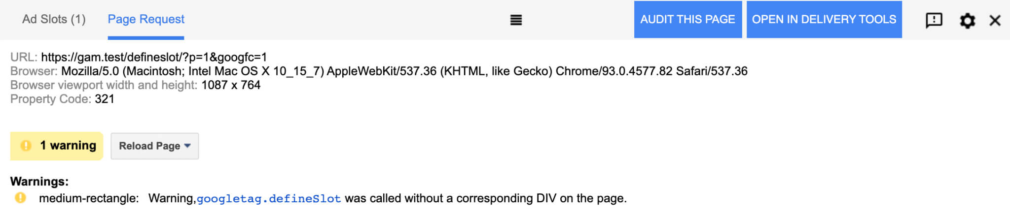 Warning, googletag.defineSlot was called without a corresponding DIV on the page