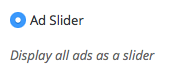 ad slider group setting