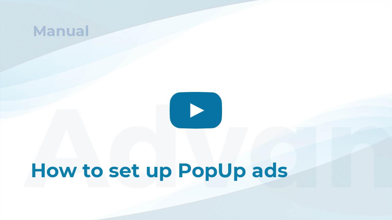 Set up PopUp ads in WordPress